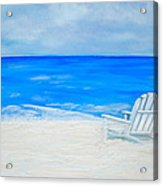 Beach Escape Acrylic Print by Debi Starr