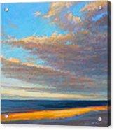 Beach Front Acrylic Print by Ed Chesnovitch