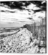 Beach Side Cape May Acrylic Print by John Rizzuto