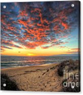 Beachcombers Sunset Acrylic Print by English Landscapes