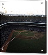 Beautiful Right Field View Of Old Yankee Stadium Acrylic Print by Retro Images Archive