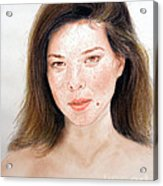 Beautiful Actress Jeananne Goossen Acrylic Print by Jim Fitzpatrick