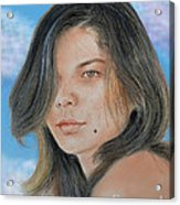 Beautiful And Sexy Actress Jeananne Goossen IIi Altered Version Acrylic Print by Jim Fitzpatrick