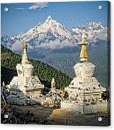Beautiful Snow Mountain - Meili Xue Shan Acrylic Print by James Wheeler
