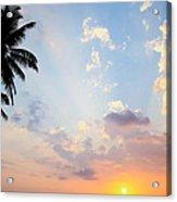 Beautiful Tropical Sunset Acrylic Print by Nila Newsom