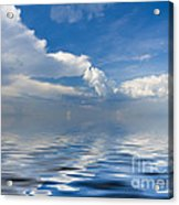 beauty Clouds over Sea Acrylic Print by Boon Mee
