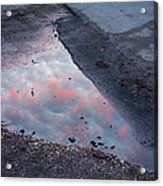 Beauty Is Everywhere - Sky Reflected In Puddle Of Water Acrylic Print by Matthias Hauser