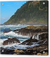 Beauty Of Oregon Coast Acrylic Print by Denise Darby