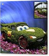 Before And After Sample Art 29 Floral Lightning Mcqueen Acrylic Print by Thomas Woolworth