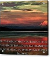 Before The Mountains Acrylic Print by Benjamin Yeager