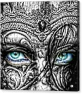 Behind Blue Eyes Acrylic Print by Mo T