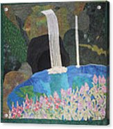 Behind The Waterfall Acrylic Print by Aisha Lumumba