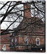 Behind Trees -- The British Ambassador's Residence Acrylic Print by Cora Wandel