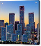 Beijing Central Business District Acrylic Print by Fototrav Print