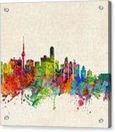 Beijing China Skyline Acrylic Print by Michael Tompsett