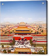 Beijing Forbidden City Skyline Acrylic Print by Colin and Linda McKie