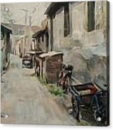 Beijing Hutong Acrylic Print by Annie Salness