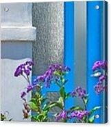 Belmont Shore Blue Acrylic Print by Gwyn Newcombe
