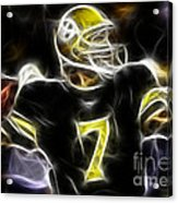 Ben Roethlisberger  - Pittsburg Steelers Acrylic Print by Paul Ward