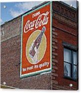 Bend Oregon Coke Sign Acrylic Print by Gary Grayson