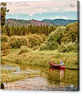 Bend/sunriver Thousand Trails Acrylic Print by Bob and Nadine Johnston