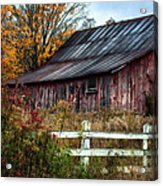 Berkshire Autumn - Old Barn Series   Acrylic Print by Thomas Schoeller