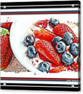 Berries And Yogurt Illustration - Food - Kitchen Acrylic Print by Barbara Griffin
