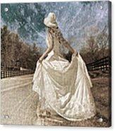 Beside Myself The Moon Acrylic Print by Betsy C Knapp