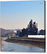Bethlehem Steel And The Lehigh River Acrylic Print by Bill Cannon