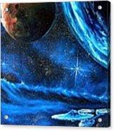 Between Alien Worlds Acrylic Print by Murphy Elliott