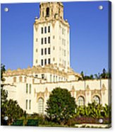 Beverly Hills Police Station Acrylic Print by Paul Velgos
