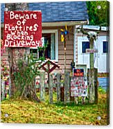 Beware Of Flat Tires Acrylic Print by Trever Miller