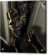 Beware Zombies Bearing Gifts Acrylic Print by Randy Turnbow