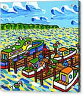 Big Dock - Cedar Key Acrylic Print by Mike Segal