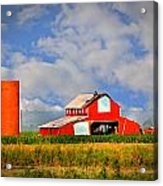 Big Red Barn Acrylic Print by Marty Koch