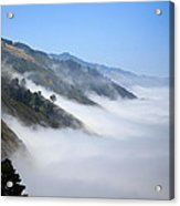 Big Sur Fog Acrylic Print by Mathew Lodge