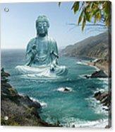 Big Sur Tea Garden Buddha Acrylic Print by Alixandra Mullins