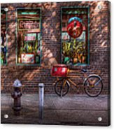 Bike - Ny - Chelsea - The Delivery Bike Acrylic Print by Mike Savad