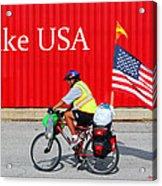 Bike Usa Acrylic Print by Lorna Rogers Photography