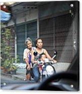 Bikes - Bangkok Thailand - 01131 Acrylic Print by DC Photographer