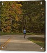Biking In The Smoky Mountains Acrylic Print by Dan Sproul