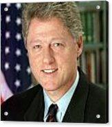 Bill Clinton Acrylic Print by Georgia Fowler