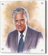 Billy Graham Evangelist Acrylic Print by Dick Bobnick