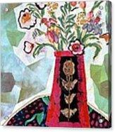 Bird Blossom Vase Acrylic Print by Diane Fine