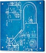 Bird Respirator Patent Art 1962 Blueprint Acrylic Print by Ian Monk