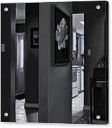 Black And White Foyer Acrylic Print by Tony Chimento