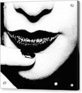 Black And White Acrylic Print by Maria  Lankina