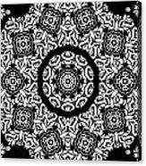 Black And White Medallion 10 Acrylic Print by Angelina Vick