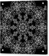 Black And White Medallion 11 Acrylic Print by Angelina Vick