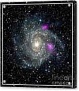 Black Holes In Spiral Galaxy Nasa Acrylic Print by Rose Santuci-Sofranko